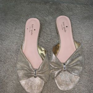 Gold Kate spade shoes
